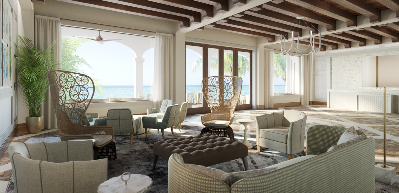 The Interior of the Lobby at Isla Bella Beach Resort