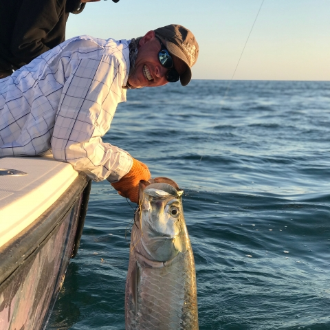 Fisherman with Tarpon catch