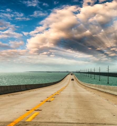 Bridge over Florida Keys water